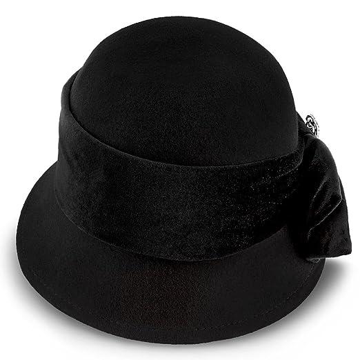 ca882b3c26bb1 Walrus Hats Starling Wool Felt Cloche Hat - H7017 at Amazon Women s  Clothing store