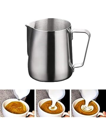 Yizhet 350ml /12 oz Jarra de Leche Acero Inoxidable Jarra café, Latte & para