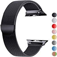 VIKATech Compatible Correa para Apple Watch 44mm 42mm 40mm 38mm | Pulsera de Acero Inoxidable | Pulseras de Repuesto Smartwatch con Imán Compatibles con iWatch Series 5/4/3/2/1