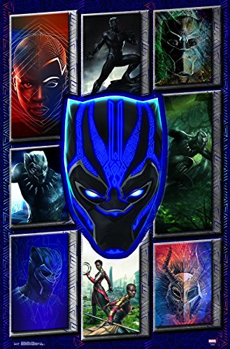 Trends International Wall Poster Collage Black Panther, 22.375