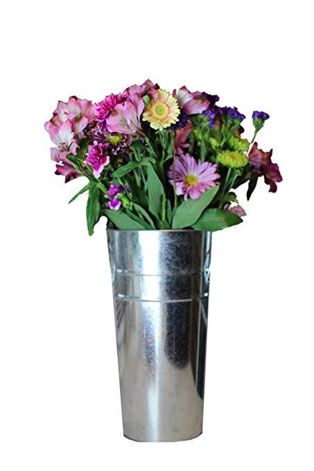 Amazon Galvanized French Tin Bucket For Indoor And Outdoor