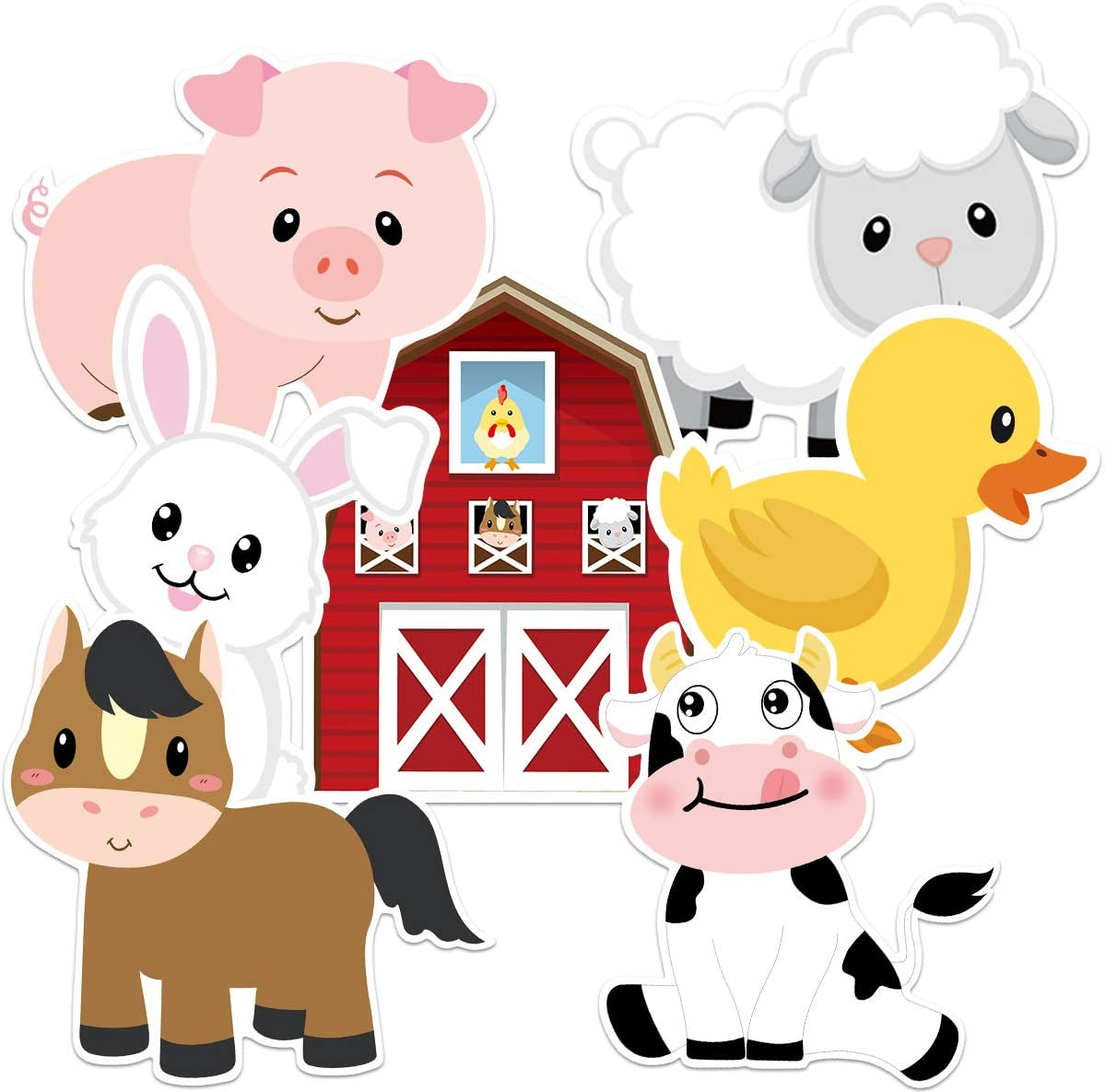 Farm Animals Cutouts Baby Shower Birthday Party Cut-Outs 20 Count