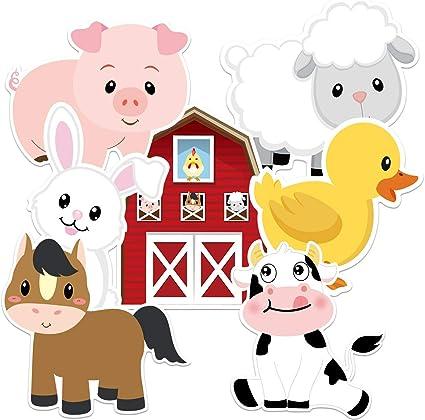 Amazon.com: Farm Animals recortes para fiesta de cumpleaños ...