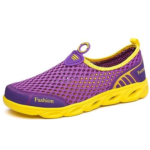 Zapatos Malla Transpirable de los Hombres Antideslizantes Zapatos de Ocio Mocasines para Caminar Cerrado Zapatillas de