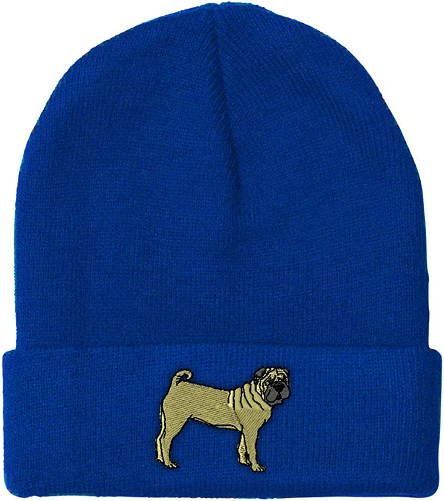 Custom Beanie for Men /& Women Chinese Shar-Pei B Embroidery Skull Cap Hat