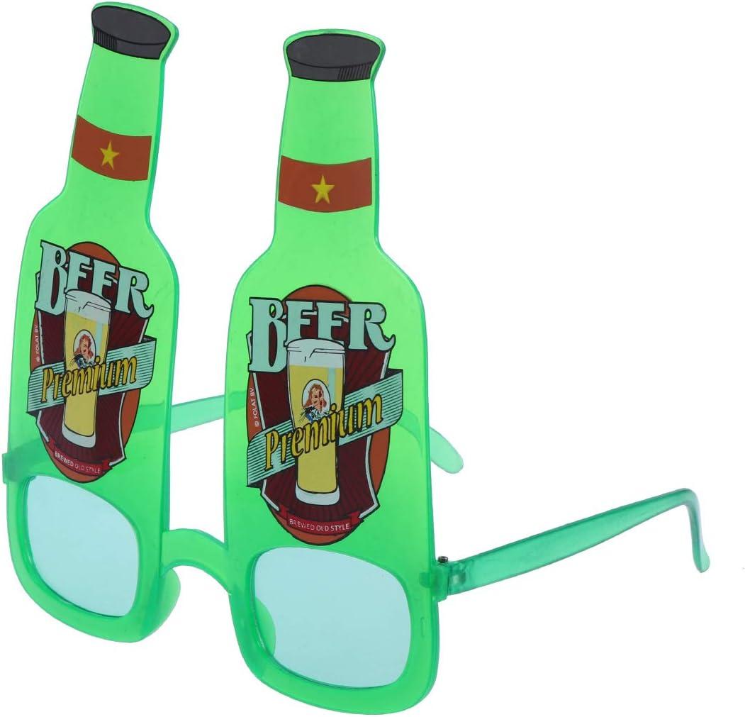 Amosfun Gafas de Sol en Forma de Botella de Cerveza Disfraz para ...