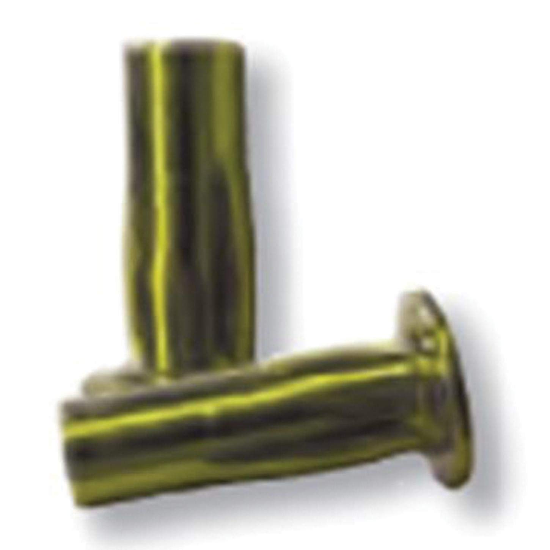 CPB2-2520-280, Slotted Body Insert, 1/4-20 (.020-.280 GR) Pre-Bulbed Body, LG FLNG HD, Steel, Zinc YLW (100 PK) by CPB Series
