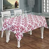India Cotton Tablecloth Natural Linen Rectangle 6-Seater -100% Cotton Floral Paisley Table Cloth Indian Maroon -55