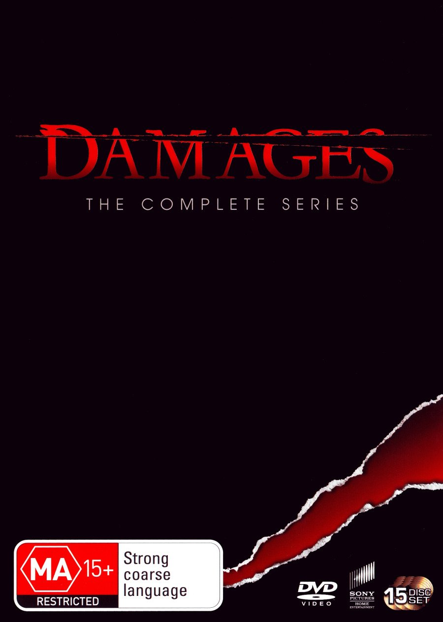 Damages Complete TV Series | Seasons 1-5 | 15 Discs | NON-USA Format | PAL | Region 4 Import - Australia