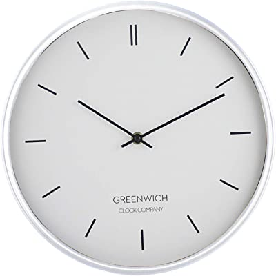 """Luxury Modern Wall Clock, Perfect for Any Room in The House or Office. 12"""" Clock White"""