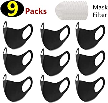 9-Pack Meinice Reusable Anti Dust Face Filters