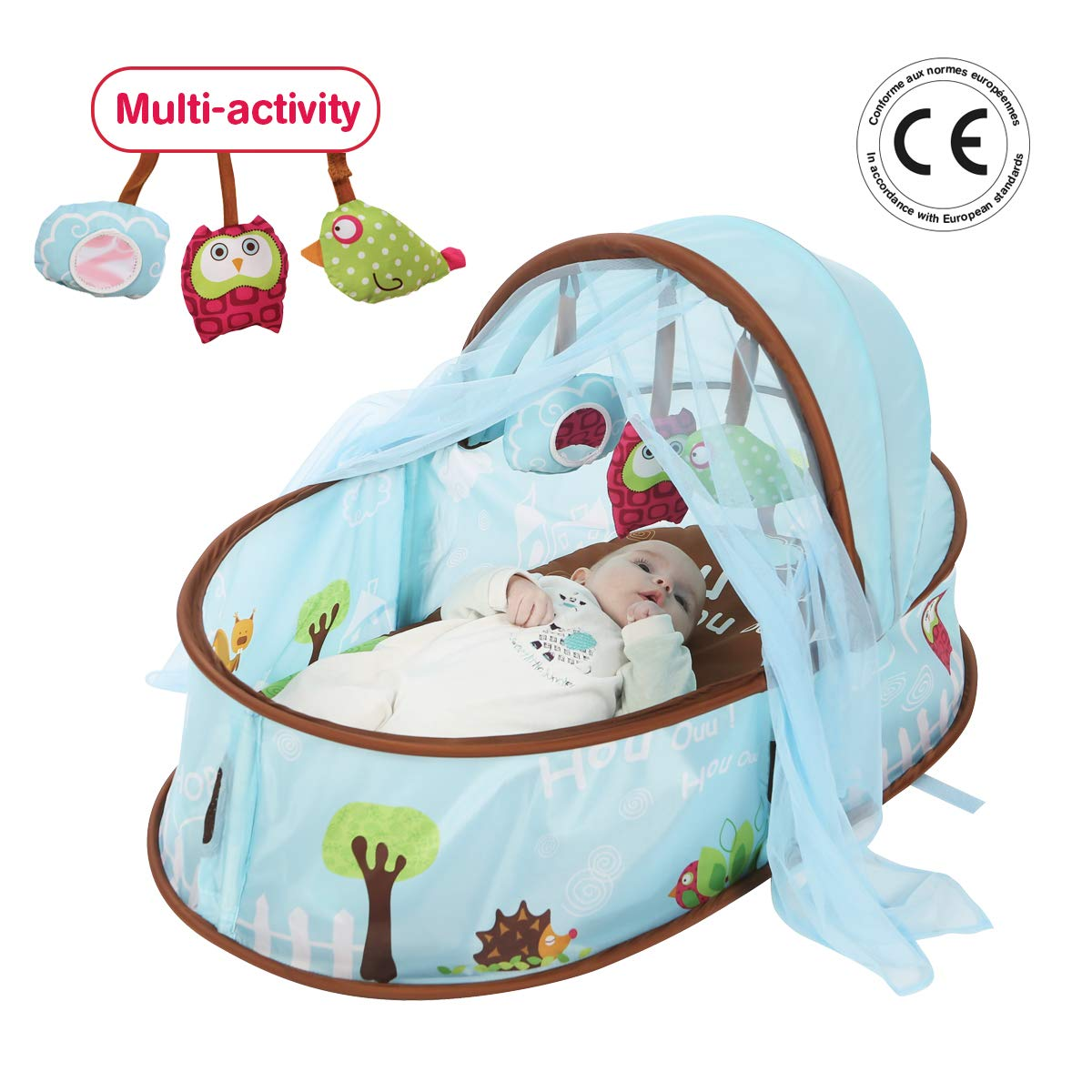 LUDI Chocolate Portable Bed 2808