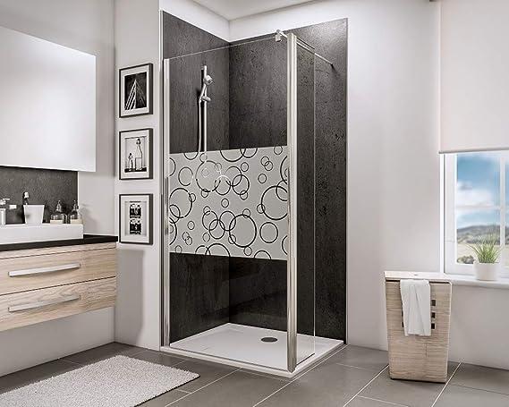 Schulte 4060991014505 mampara de ducha, Décor círculos, 90 x 30 x ...