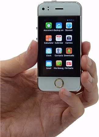 Desbloqueado Mini teléfono móvil 2.45 Pulgadas Soyes Smartphone Android 5.1 OS teléfono Celular (Plata): Amazon.es: Electrónica