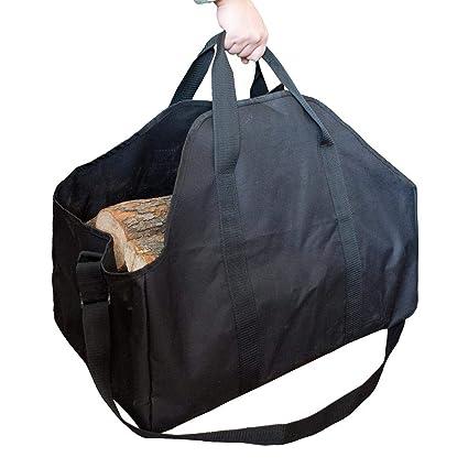 Bolsa de almacenamiento de leña portátil, Bolsas de asas de ...