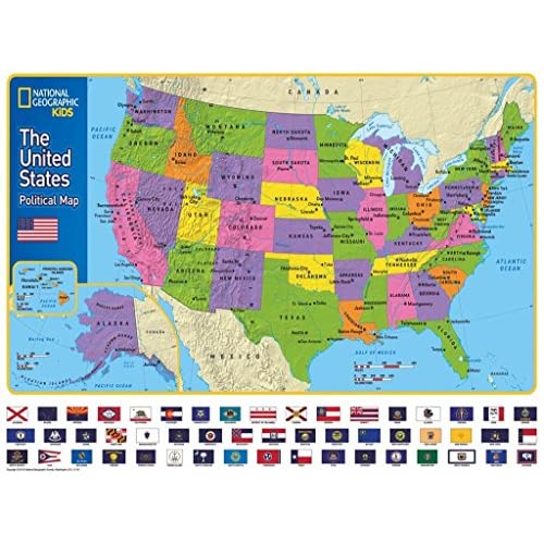 outlet new york puzzle company national geographic the usa kids map 300 piece jigsaw