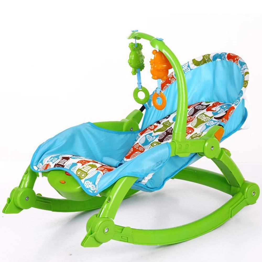 4歳未満の新生児に適しています 赤ちゃんのお手入れポータブルロッキングチェア新生児幼児用ポータブルロッカーSweet Dreams用折りたたみ式ベビー用ロッキングチェア   B07QYCQNH9