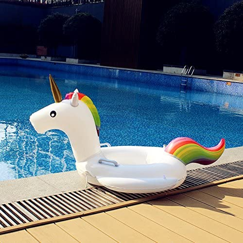 Skyshc Giant Swan Pool Float Inflatable Ride-on Lounger Raft with Fast Valves for Summer Pool Party Beach Toys