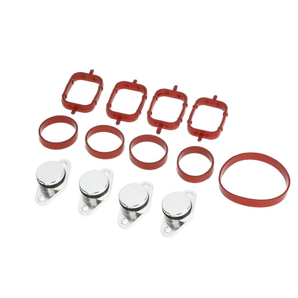 KKmoon, confezione da 6 tappi per farfalle di turbolenza, 22 mm, per motore diesel, pezzi vergini di ricambio, con guarnizioni per collettore di aspirazione
