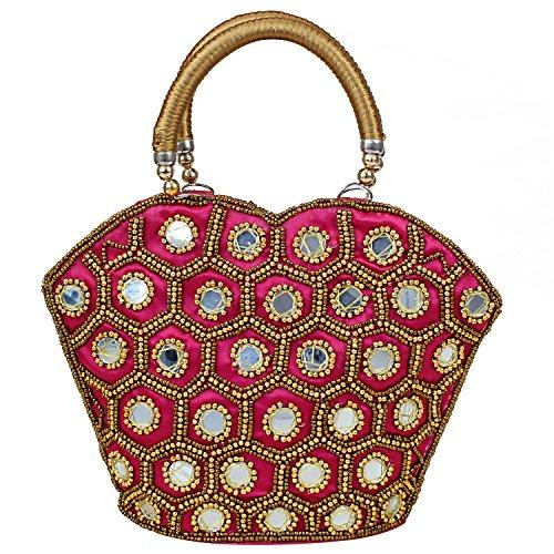 Bag Queen Handheld Work Designer Rajasthani Mirror Ethnic wSAxq1TO