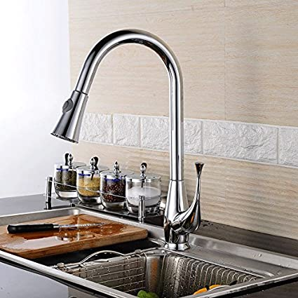 Amazon Com Modern Kitchen Sink Faucet Contemporary Solid Brass Hot