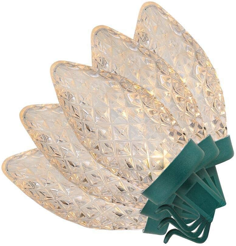 Home Accents Holiday 61 ft. 100-Light Warm White LED C9 Light String on a Spool