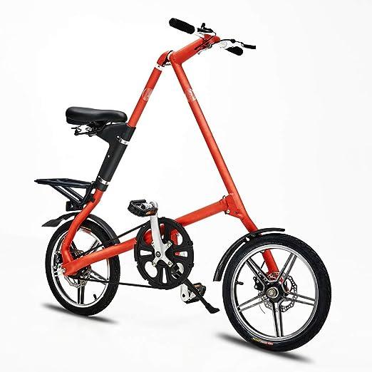 VANYA Adulto Bicicleta Plegable de 16 Pulgadas de aleación de ...