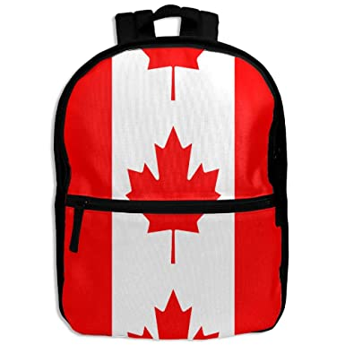 Kid sCanada Flag Unisex Full 3D Printed Width Zipper School Travel Shoulder Bag  Kids  5ef04a1824
