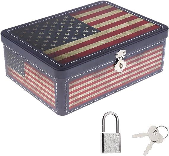 Gazechimp - Caja con cierre con llave metálica. Forma cuadrada ...