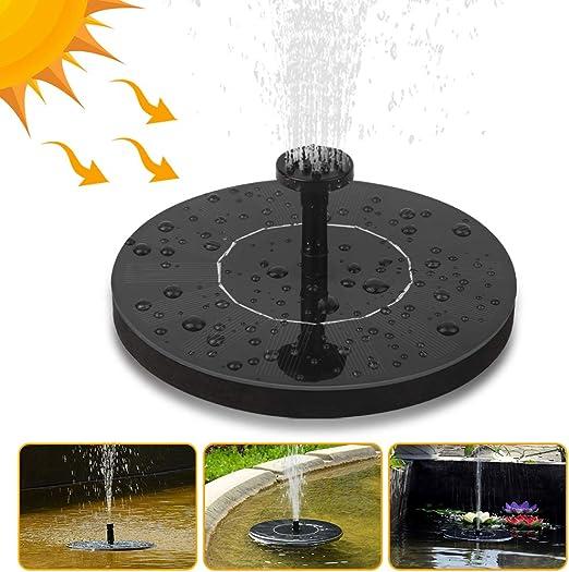 Fuente solar, Nasharia solar bomba para estanque con 6 efectos de pulverización, bomba de agua solar para estanques de jardín, contenedores de peces, baño de pájaros, decoración de jardín: Amazon.es: Jardín