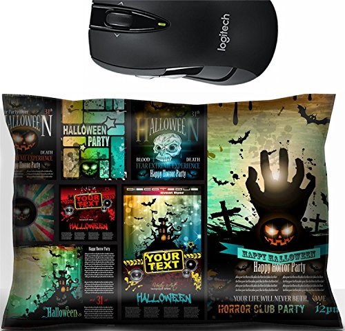 Liili Mouse Wrist Rest Office Decor Wrist Supporter Pillow IMAGE ID 32322977 Halloween Party Flyer with creepy colorful elements with a black portion of background for your -
