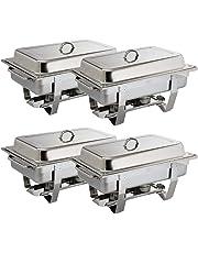4x Olympia Scheuerstellen Milan Set Vier Pack 317,5x 635x 102mm 18/0Edelstahl Auflaufform