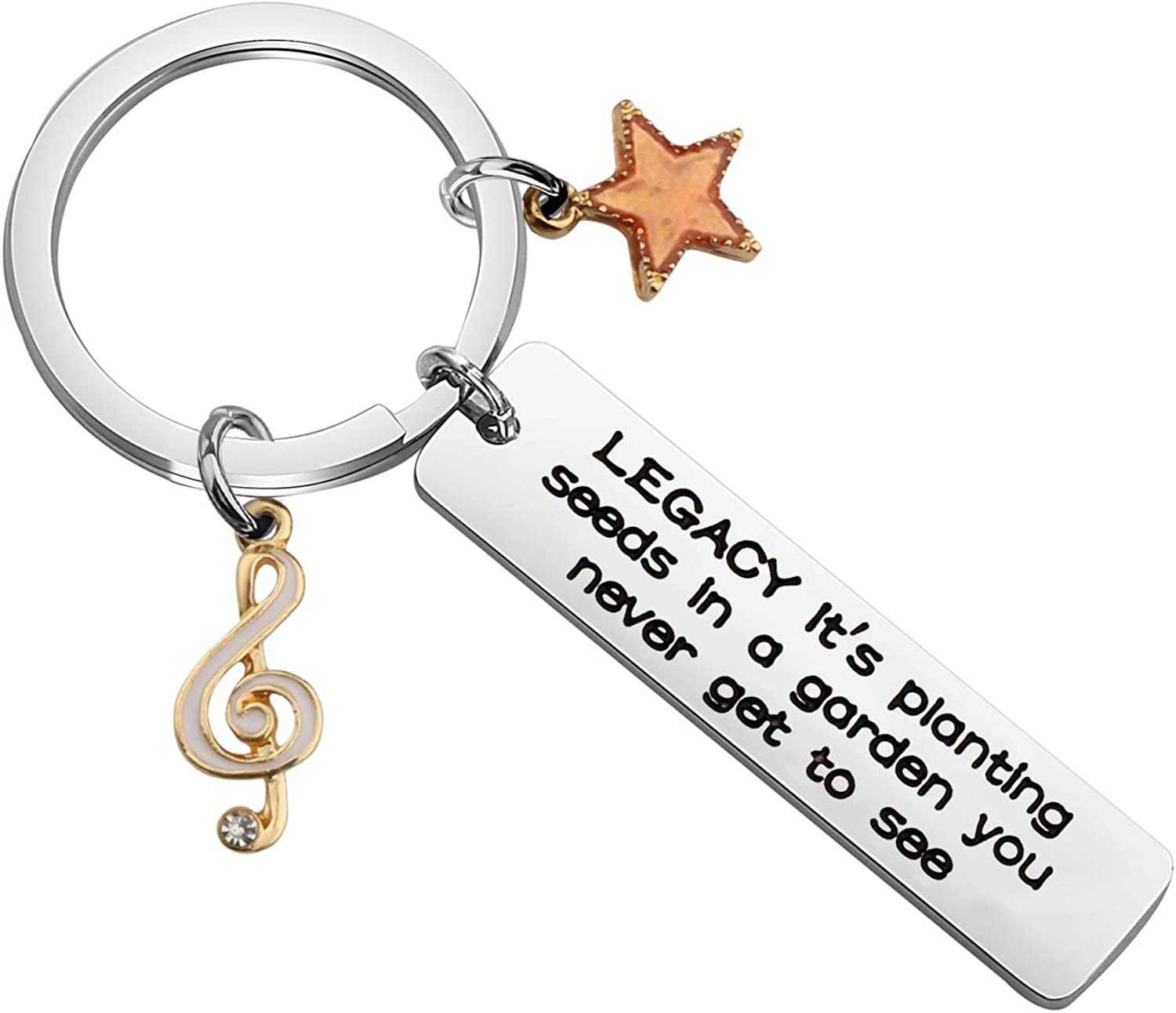 CHOORO Hamilton Musical Gift Hamilton Inspirational Quote Legacy It's Planting Seeds in a Garden You Never Get to See Keychain Broadway Musical Gift
