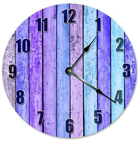 purple pastels wall clock - purple wall clock - Purple wall decor