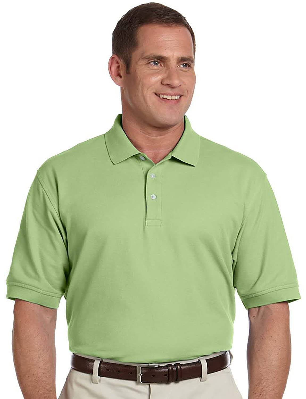 Dj Mens Ss Pima Pique Polo Lime At Amazon Mens Clothing Store