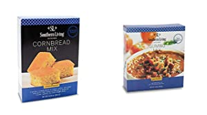 Gourmet Gumbo and Cornbread Bundle from Southern Living, Original Recipe for Delicious, Quick & Easy New Orleans Style Cajun Gumbo and Southern Cornbread