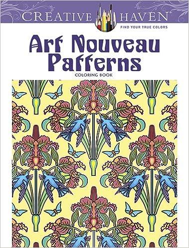 art nouveau patterns creative haven coloring books