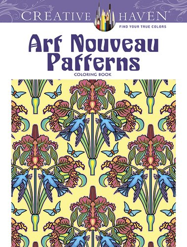 art nouveau patterns creative haven coloring books
