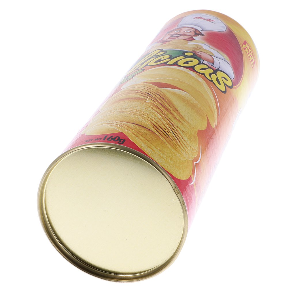 LOVIVER Potato Chip Snake Can Jump Spring Snake Toy Gift April Fool Day Halloween Party Decoration Jokes in A Can Gag Gift Prank Potato Chip Style