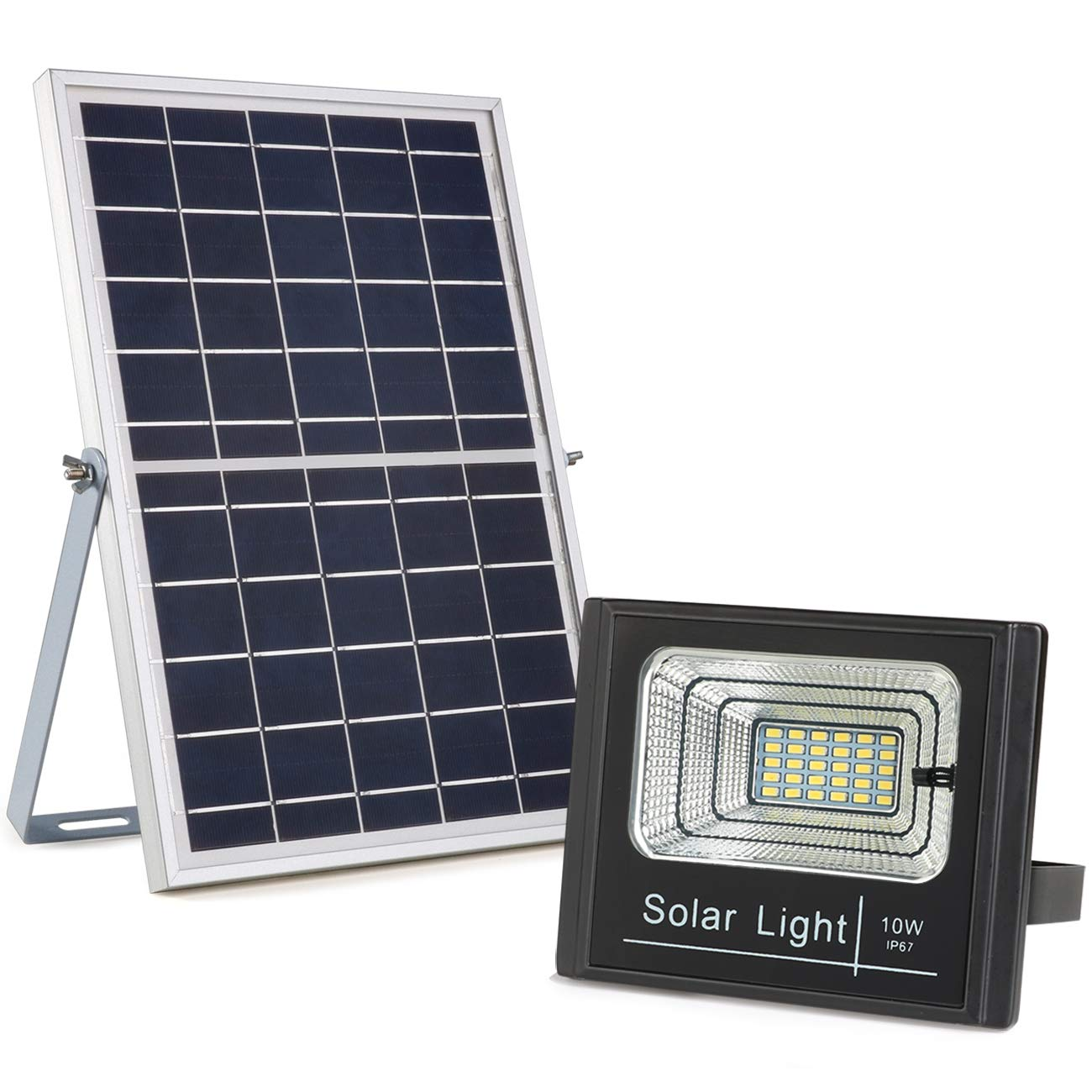 solar powered flood light dusk to dawn