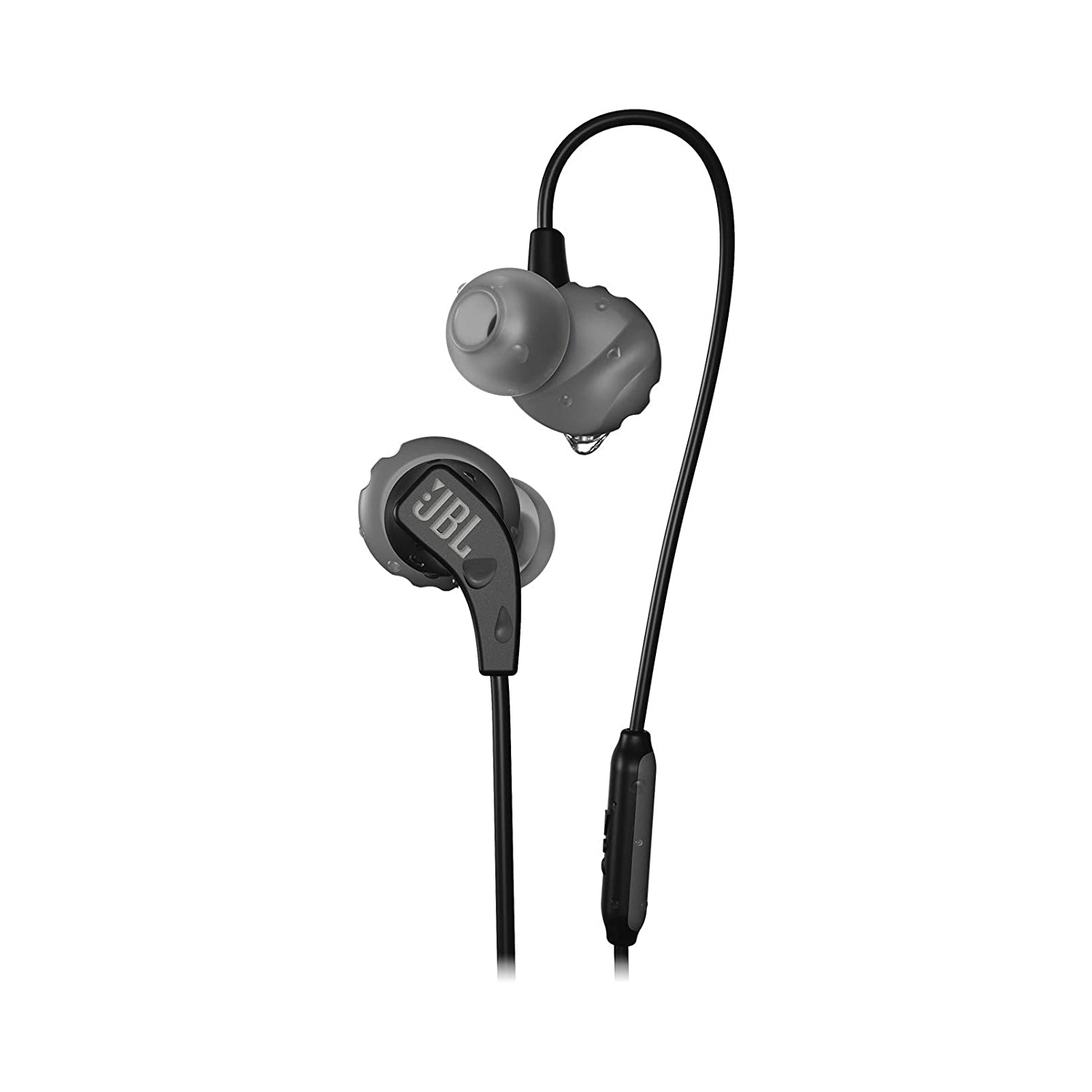 JBL Endurance RUN Sweatproof Sports In-Ear Headphones with One-Button Remote and Microphone Black