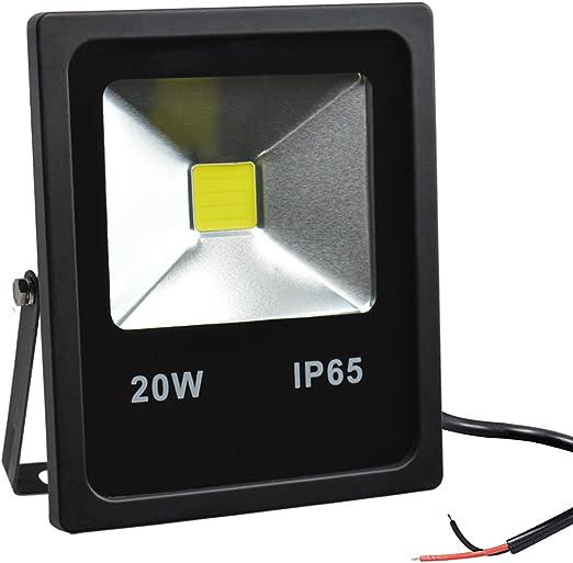 GLW 12V Foco Exterior,LED Luz de inundación,20W 6000K luz de día ...