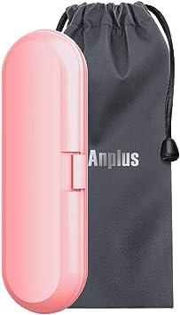 Oral B - Estuche de viaje para cepillos de dientes eléctricos Oral b (1 pieza de mano y 2 cabezales de recambio de color rosa): Amazon.es: Salud y cuidado personal