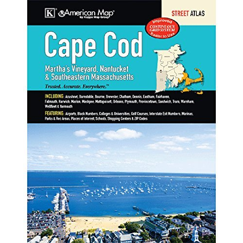 Cape Cod, Martha s Vineyard, Nantucket & Southeastern Massachusetts Street Atlas by Kappa Map Group - Cod Mall Cape Massachusetts