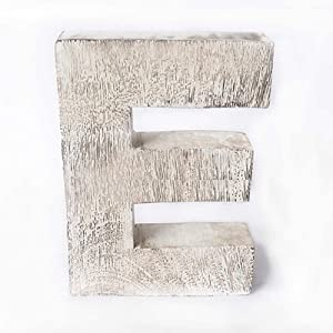 Kaizen Casa Vintage, Rustic Mango Wood Alphabet Letter E, Wall Decor, Wall Sculptures, Home, Office, Party Décor.