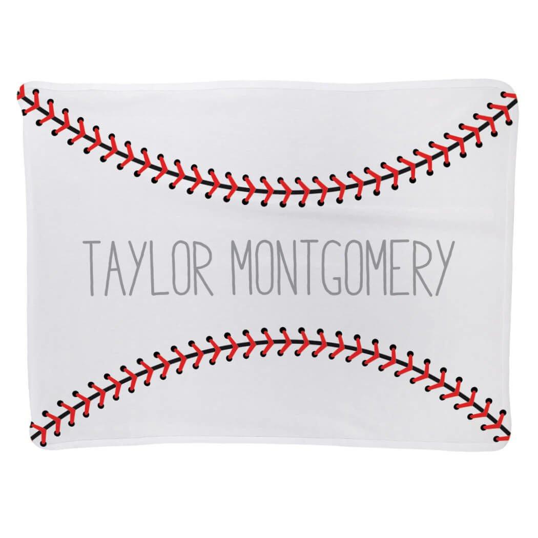 Baseball Baby & Infant Blanket | Baseball Stitches