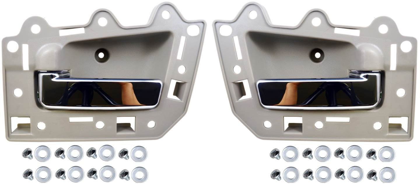 Beige//Tan Housing with Chrome Lever PT Auto Warehouse CH-2815ME-FL Driver Side Inside Interior Inner Door Handle