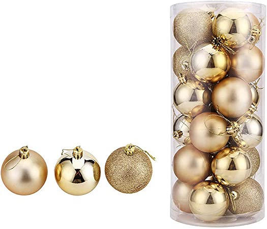 WAWJ 24PCS/Pack Bolas de Navidad Christmas Tree Pendant Ornaments ...