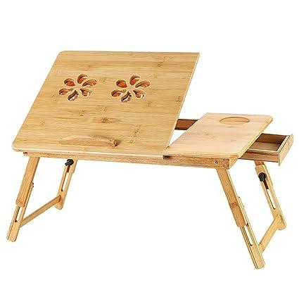 Ajustable Bambú Estante Soporte de Cama para Plegable Escritorio ...
