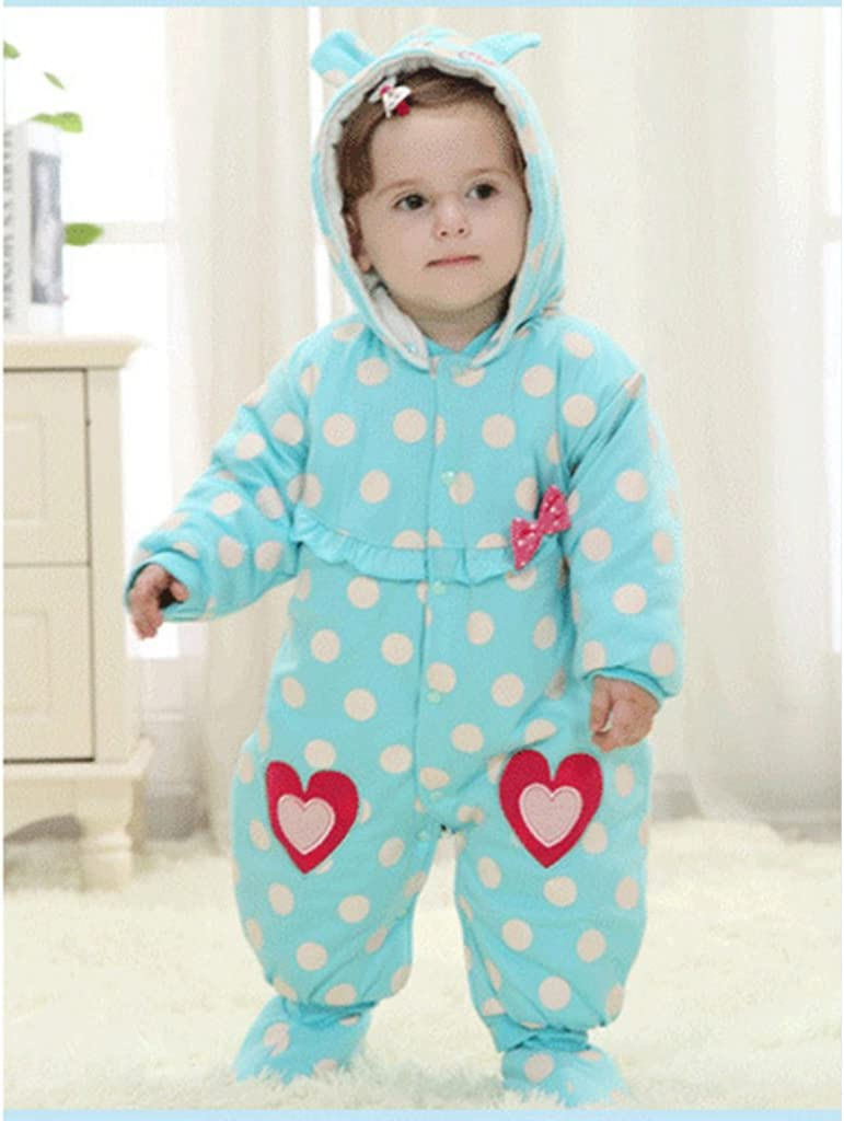 Vine Newborn One-Piece Baby Boys Girls Romper Cotton Thick Jumpsuit Outwear Cute Outfits Yellow Duck 0-3 Months
